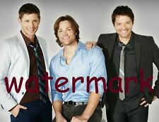 Supernatural Tv Series Cast Smiling Handsome Sam, Dean & Castiel Publicity Photo