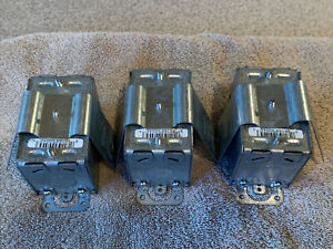 """(Lot Of 3) Hubbell RACO 545 2-1/2"""" Deep Non-Gangable Switch Box"""