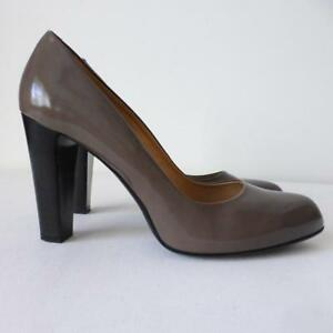 TOD'S Women's Shoes Patent Leather Block Heel Pumps Size 41  Made in Italy