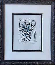 Marc Chagall - Black and Blue Bouquet, 1957 - Original Signed Mourlot Lithograph