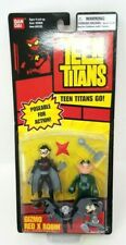 """DC BanDai 2004 Teen Titans Go! GIZMO & RED X ROBIN 3.5"""" Action Figure New Sealed"""