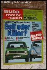 AMS Auto Motor Sport 21/74 Opel Manta TE 2800 Bitter Diplomat BMW 3,0 Si