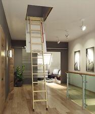 FAKRO COMFORT wooden 4-section LOFT LADDER 600x940 / 2800 H + FREE POSTAGE