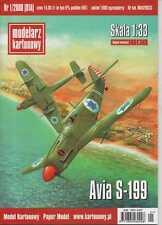 1:33 scale- Israeli fighter Avia S-199 - Paper Model -English instruction!