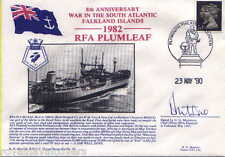 RFA PLUMLEAF NAVY SIGNED 1990 8TH ANN FALKLANDS CONFLICT ROYAL FLEET AUXILIARY