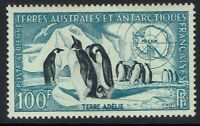 French Antarctica SC# C2, Mint Hinged, Page Remnant -  Lot 120716