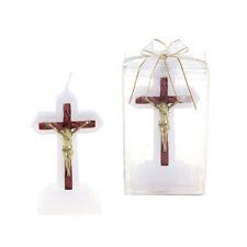 Mega Candles - Jesus on Cross Candles - Gold, Set of 12