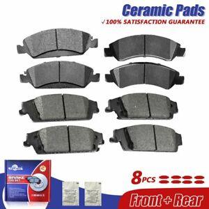 Front + Rear Ceramic Brake Pads For Escalade Silverado 1500 Suburban Tahoe Yukon