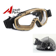 Tactical Airsoft Safety Goggles Glasses Eye Wear Googles for Helmet w/Side Rails