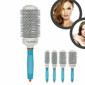 Hair Brush Drying Styling Curling Nano Thermal Ceramic Ionic Round Barrel Comb
