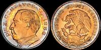 """1966-Mo MEXICO 10 CENTAVOS CENTS """"DIEZ"""" COLOR TONED BU UNCIRCULATED COIN"""