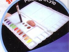 Folding Art Watercolor/Acrylic Paint Palette Box For Left Or Right Hand
