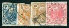 Österreich 1901 Michel Nr. 101-104 Zeitungsmarken Merkur gestempelt