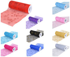 "TulleShop 6"" Inch x 10 Yards Glitter Butterfly Organza Spool Roll WeddingTutu"