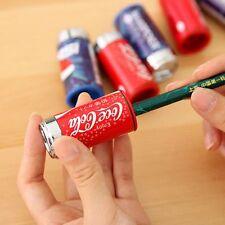 Mini Eraser Cute Cola Pencil Sharpener Drink Can