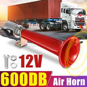 600DB Super Loud Air Horn Single Trumpet 12/24V For Car Truck Boat Train Speaker