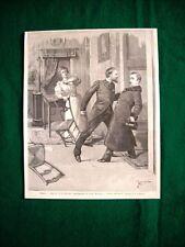Al Teatro Manzoni di Milano nel 1895 - Realtà, di G. Rovetta, scena nell'atto 3°