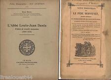 2 Notices biographiques sur des religieux Père Moissenet abbé Denis Le Mans 1842