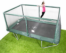10x17ft Rectangle Trampoline - Inc Net/Pads/Mat/Springs/Frame & FREE ladder