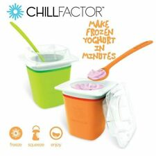 Chill Factor FROZEN YOGHURT MAKER - Orange Or Green - NEW