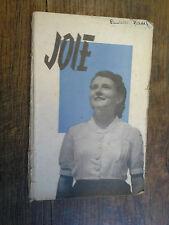 Joie  /  jeunesse agricole chrétienne féminine J.A.C.F plan de travail 1947-1948