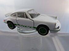 Welly 1973 Porsche Carrera RS  ca.11,5 cm lang in weiß grün