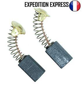 Paire de charbons pour moteur électrique 6.5x7.5x13.5mm Universel Balais Brosses