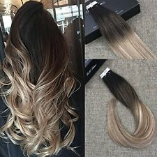 Balayage tape in hair extensions ebay 20pcs50g skin weft tape in human hair extensions blonde highlighted ombre color pmusecretfo Choice Image