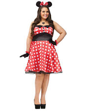 Retro Miss Mouse Cartoon Character Dress Womens Adult Plus Size Costume