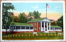 1949 West Monroe, Louisiana Postcard: G. B. Cooley Tuberculosis Sanitorium - LA