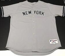 New York Yankees #2 Derek Jeter MLB Majestic Jersey Size 56 Gray