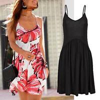 tolles mini Kleid in schwarz Gr.42 XL Strandkleid Sommerkleid Jersey Shirtkleid