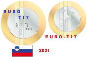 3 €   SLOVENIE   2021   PIECE  DE  3   EURO   2021     /   NUMERO  2    NOUVEAU