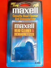 MAXELL HEAD CLEANER & DEMAGNETIZER A-450 ++ DRY TAPE ++ CASSETTE ++ RARE NOS