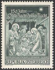 Austria 1968 Christmas/Greetings/Nativity/Cattle/Art/Sculpture/Music 1v at1024a