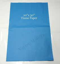 """50 Large Sheets of Blue Tissue Paper 20""""x 30"""" Matte Finish"""