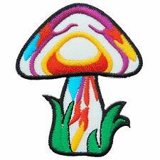 Mushroom Shrooms Colorful Weed Peace Hippie Boho Rasta Pot Iron on Patches #0508