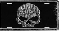 Harley Davidson WILLIE G Embossed Vanity Metal License Plate Auto Tag Black