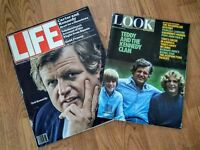 TED KENNEDY Vintage 70's LIFE & LOOK Magazines features  - Lot of 2