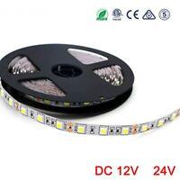 16.4ft LED Strip RGB 12V 24V 5050 SMD 60LEDs/m  Light strip DC 12 24 V Volt leds