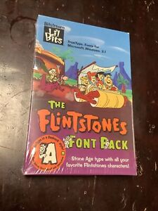 1992 New The Flintstones Font Pack MS-DOS Or Windows 3.1 Computer