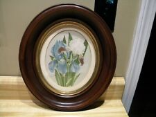 An Oval Walnut Deep Wood Victorian Picture Frame