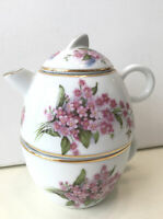 Vintage Porcelain Teapot and Cup Made in England By Alleyway Of Bourne