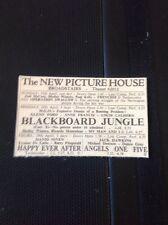 A2-1 Ephemera 1956 Advert Broadstairs Picture House Blackboard Jungle Glenn Ford