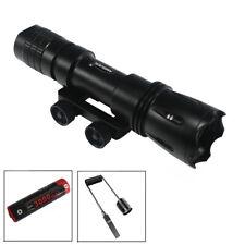 AMSUER 1600LM TAC LED Flashlight Hunting Light + 18650 Battery + Remote Switch