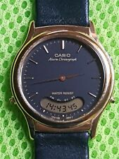 Alte Herren Armbanduhr Casio AQ 227, Analog-Digital, Chronograph