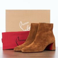 CHRISTIAN LOUBOUTIN 945$ TURELA 55 Ankle Boots In Brown Suede
