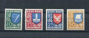 ESTONIA 1940 CHARITY SET SCOTT B46-B49 PERFECT MNH
