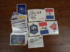 FOOTBALL PANINI FIERS D'ETRE BLEUS EURO 2016  CARREFOUR SET COMPLET + 6 TATTOOS