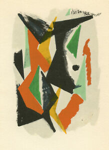 Marino Marini pochoir printed in 1955